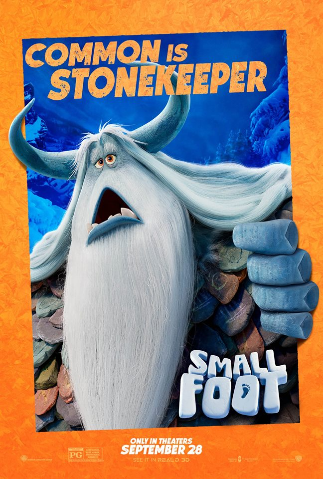Common as the StoneKeeper in Warner Bros. Small Foot, September 28