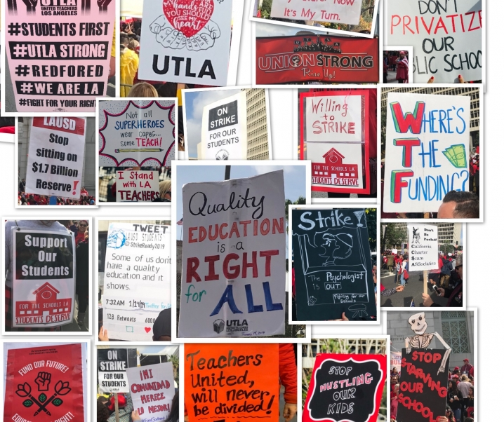 UTLA VS LAUSD, THE STRIKE, THE SUPPORT