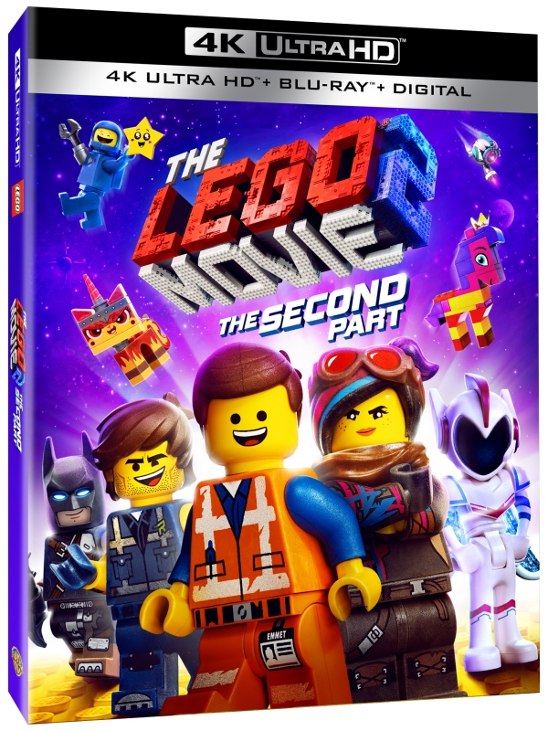 The LEGO® Movie 2: The Second Part ARRIVES ONTO 4K UHD, BLU-RAY™  AND DVD COMBO PACK May 7,  AVAILABLE now on DIGITAL FROM WARNER BROS. HOME ENTERTAINMENT