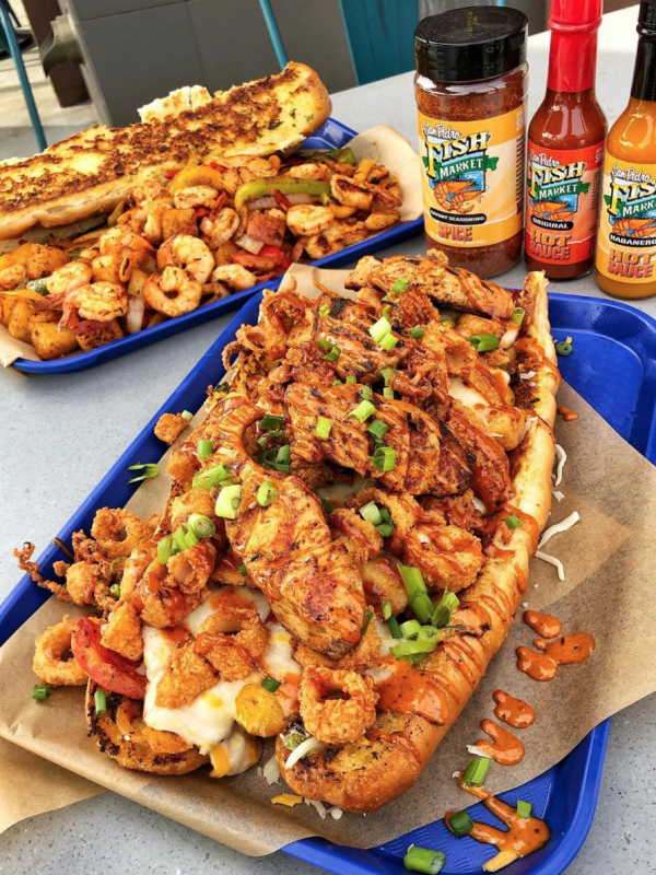 San Pedro Fish Market Grille Celebrates One year and is the best place for seafood in Rolling Hills, California.
